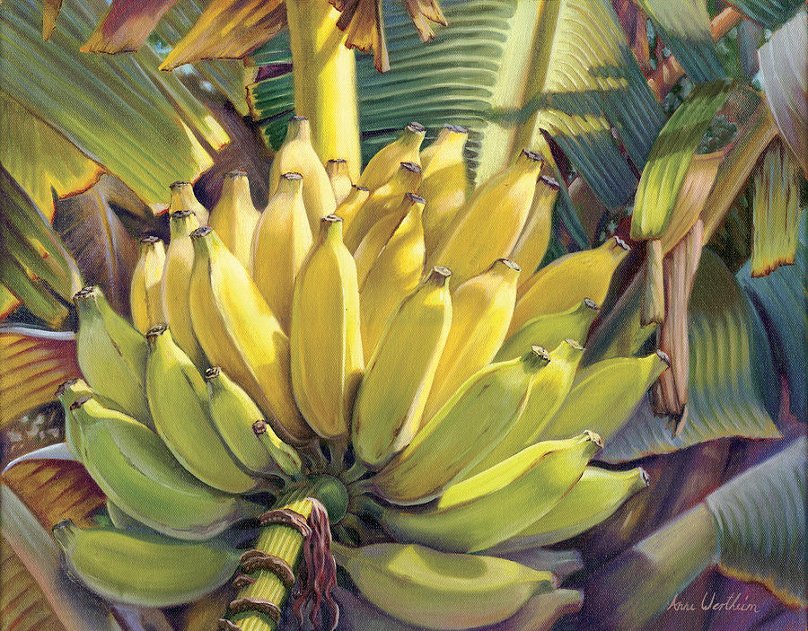 Banana Mixed Media - Stock Of Gold by Anne Wertheim