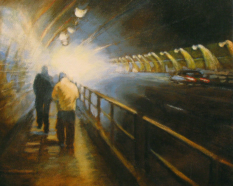 Lights And Shadows Painting - Stockton Tunnel by Meg Biddle