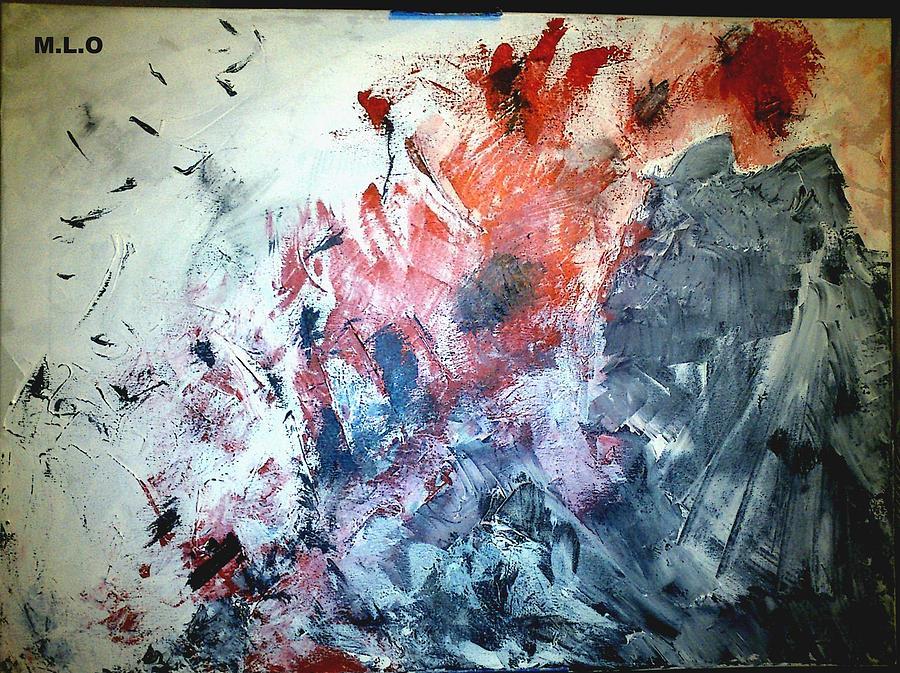 Kis Painting - Stolen Kisses by Montserrat Lopez Ortiz