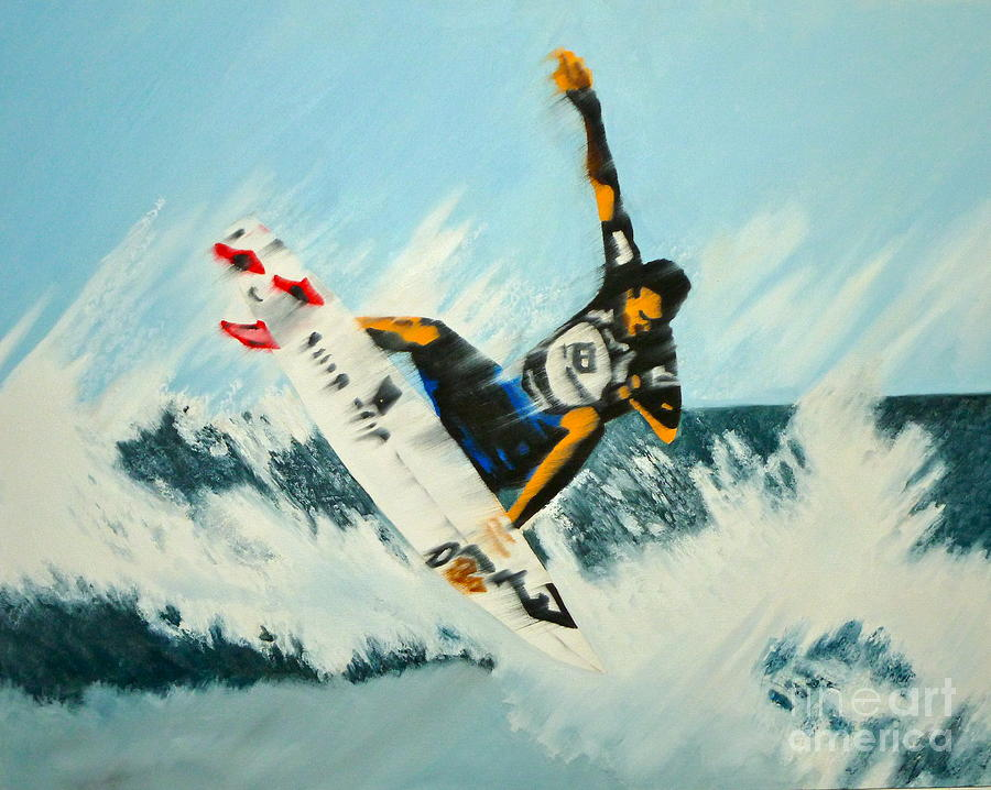 Surfer Painting - Stomp Um by Alix Barker
