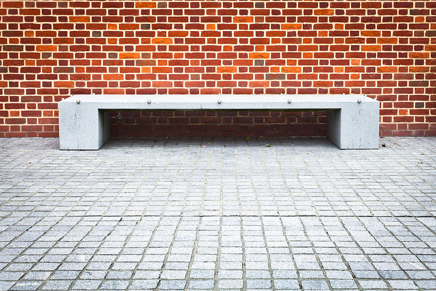 Abstracts Photograph - Stone Bench by Tom Gowanlock