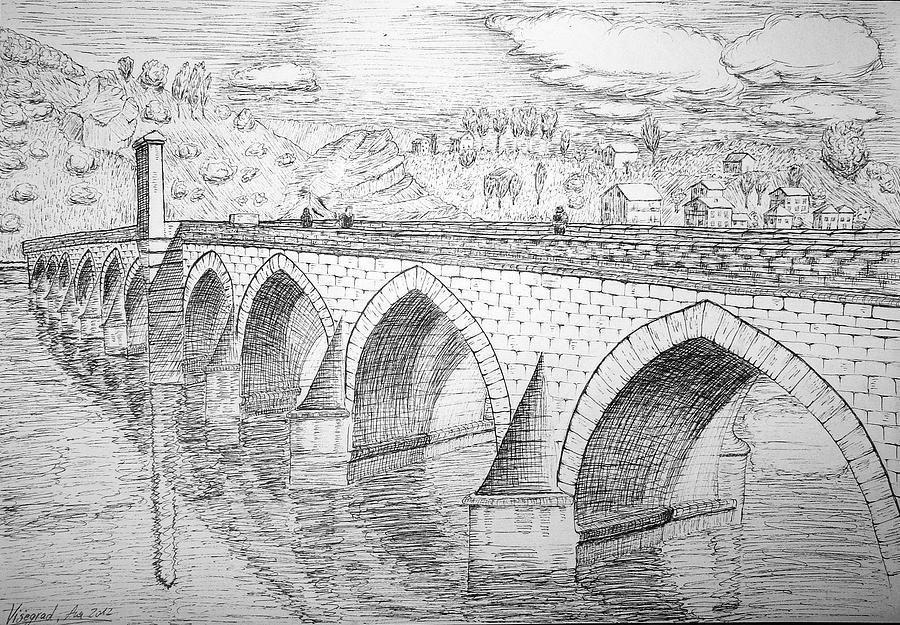 Мосты картинки карандаш