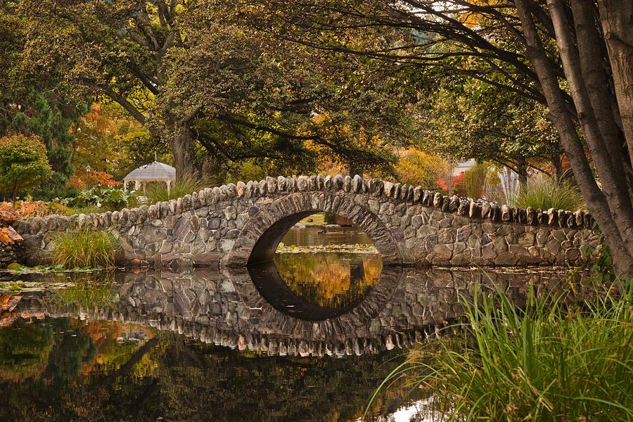 Stone Photograph - Stone Bridge Reflection by Graeme Knox