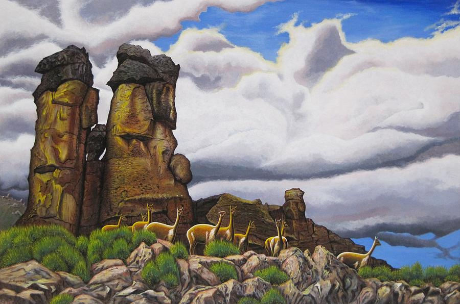 Wildlife Art Painting - Stone Forest by Luis Aguirre
