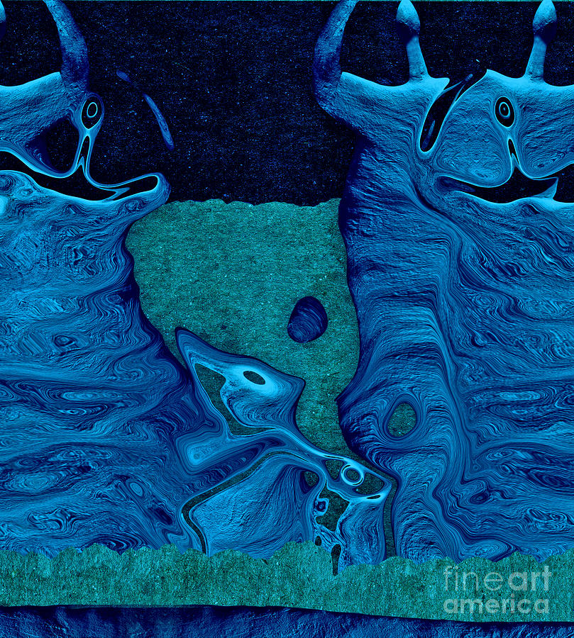 Celebration Digital Art - Stone Men 28c2b - Celebration by Variance Collections