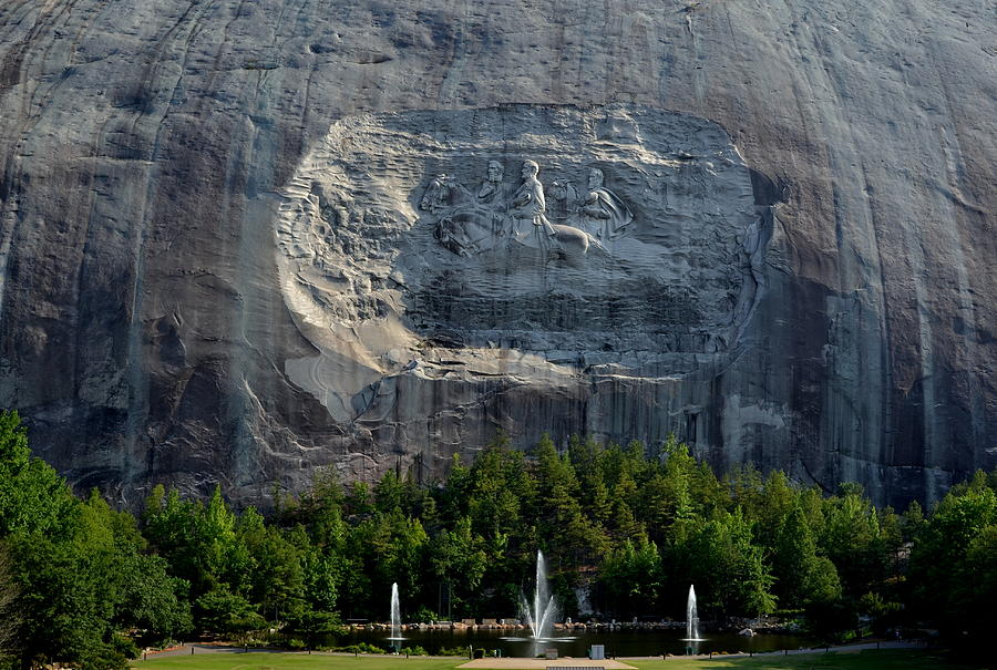 Robert E. Lee Photograph - Stone Mountain   The Carving by George Bostian