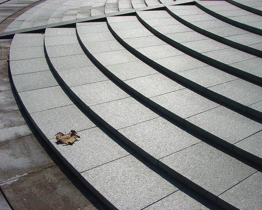 Steps Photograph - Stone Steps_pyeongchon Park_anyang_south Korea by Jon William Lopez