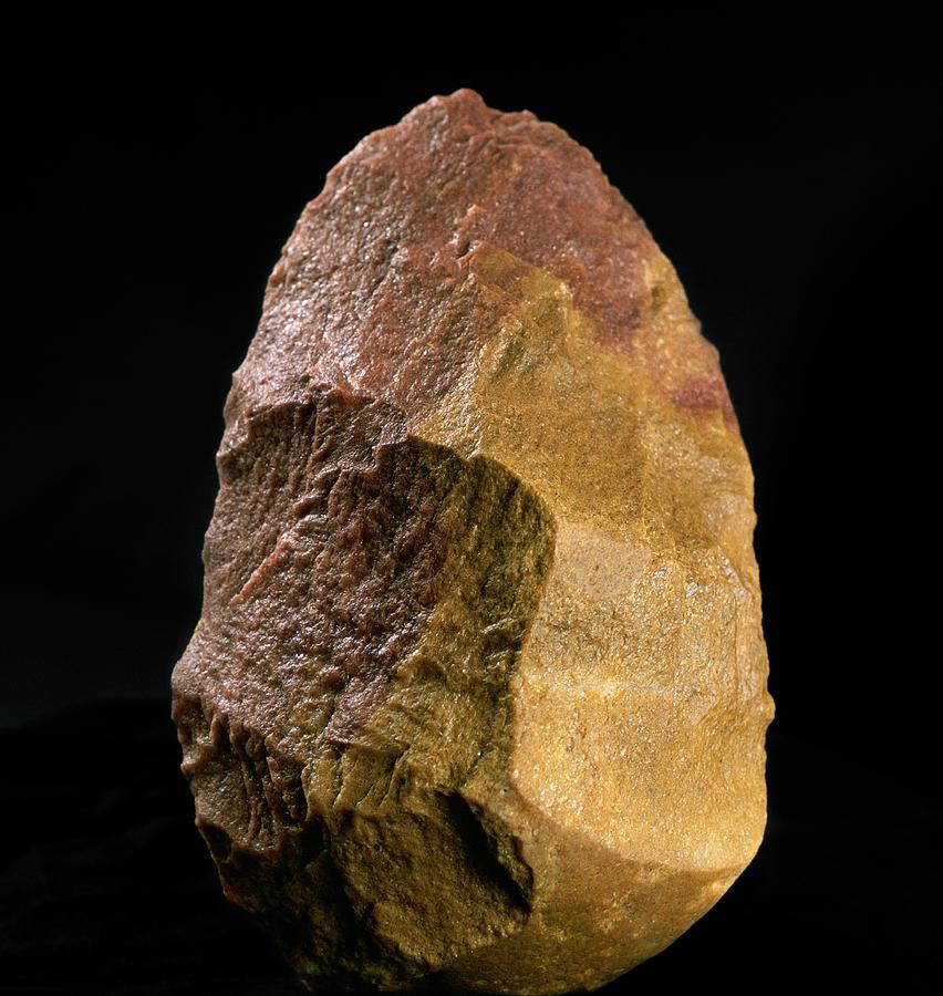 Excalibur Photograph - Stone Tool, Sima De Los Huesos by Javier Truebamsf