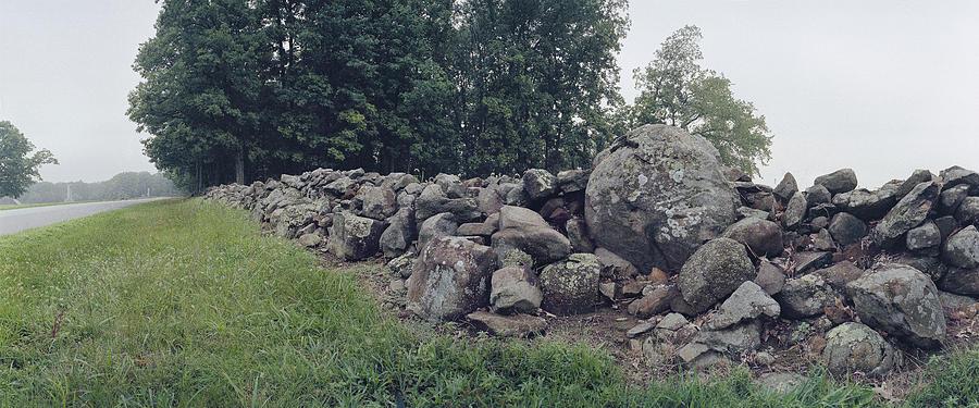 Gettysburg Photograph - Stone Wall Biesecker Farm by Jan W Faul
