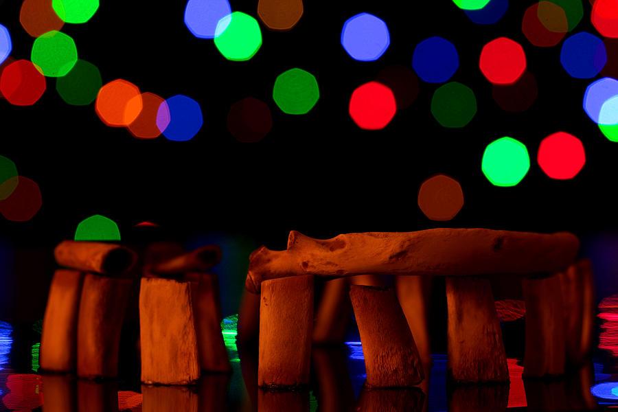 Stonehenge Photograph - Stonehenge In Starry Night by Paul Ge