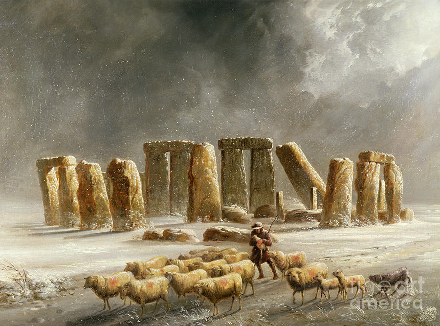 Walter Painting - Stonehenge In Winter  by Walter Williams