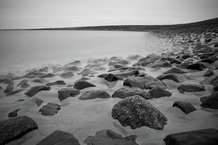 Horizontal Photograph - Stones In North Sea In Germany by by Felix Schmidt
