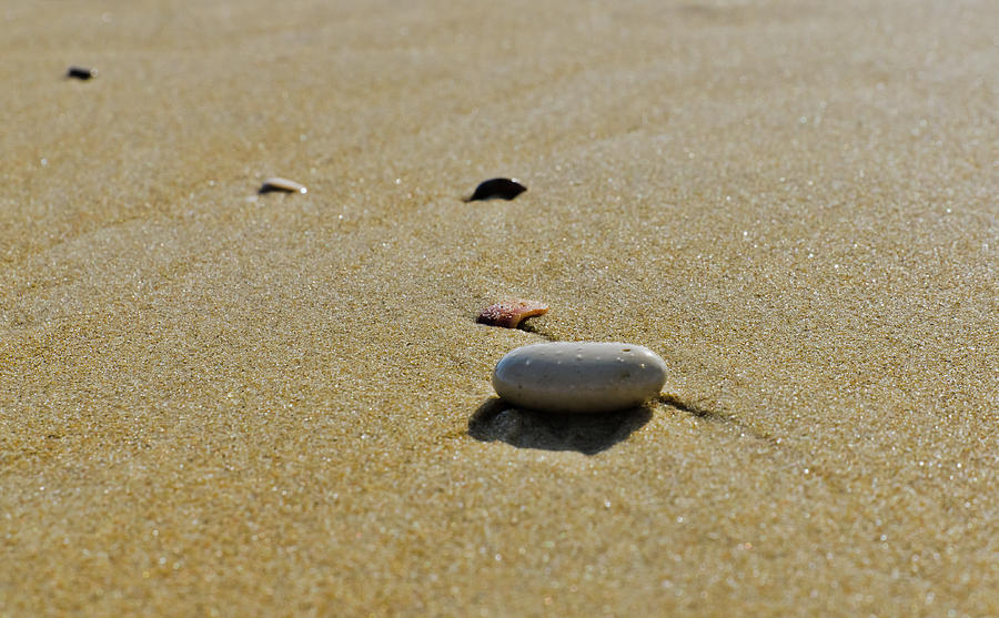 Mediterranean Photograph - Stones in the sand by Michael Goyberg