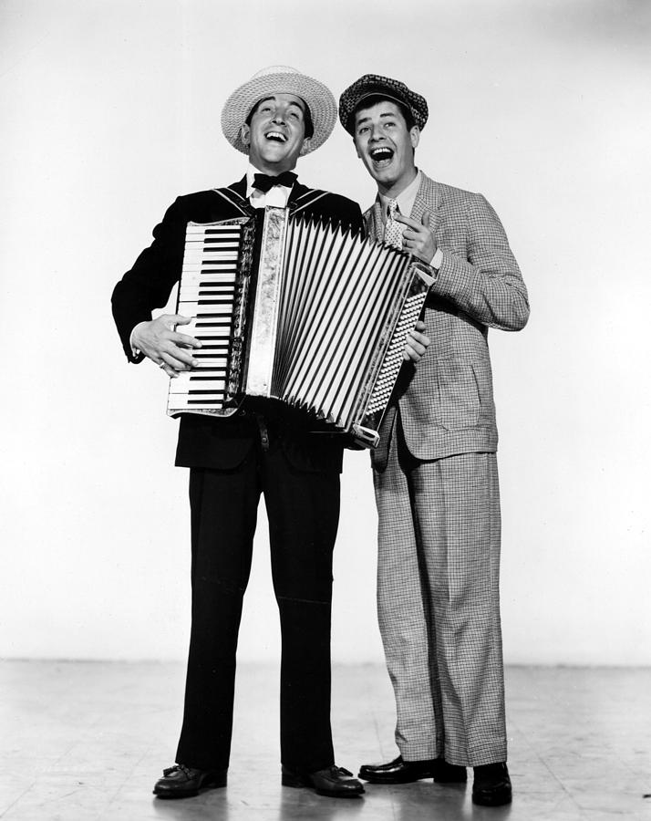 Accordian Photograph - Stooge, Dean Martin, Jerry Lewis, 1952 by Everett
