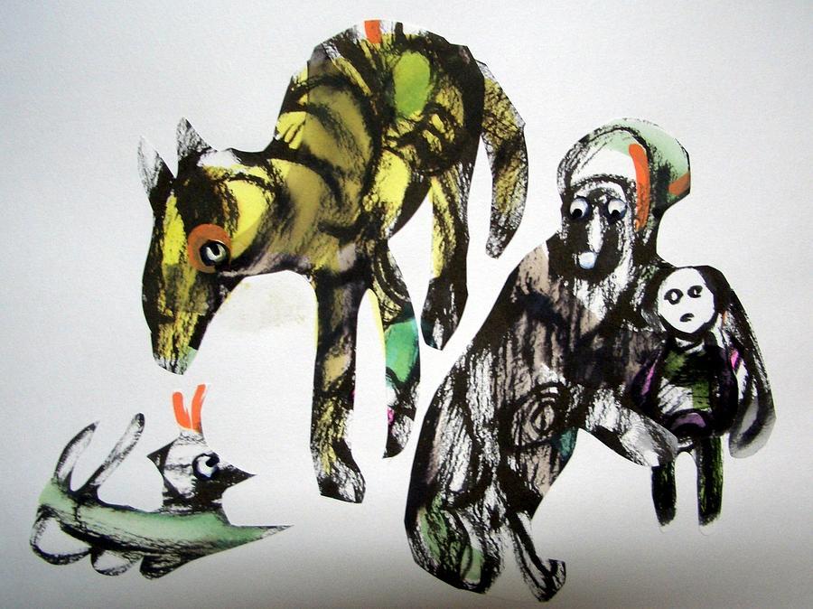 Harie Drawing - Stop Doggin Around by Aquira Kusume