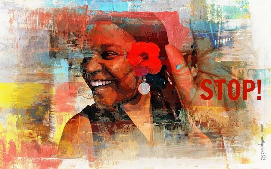 Yesayah Mixed Media - Stop by Fania Simon