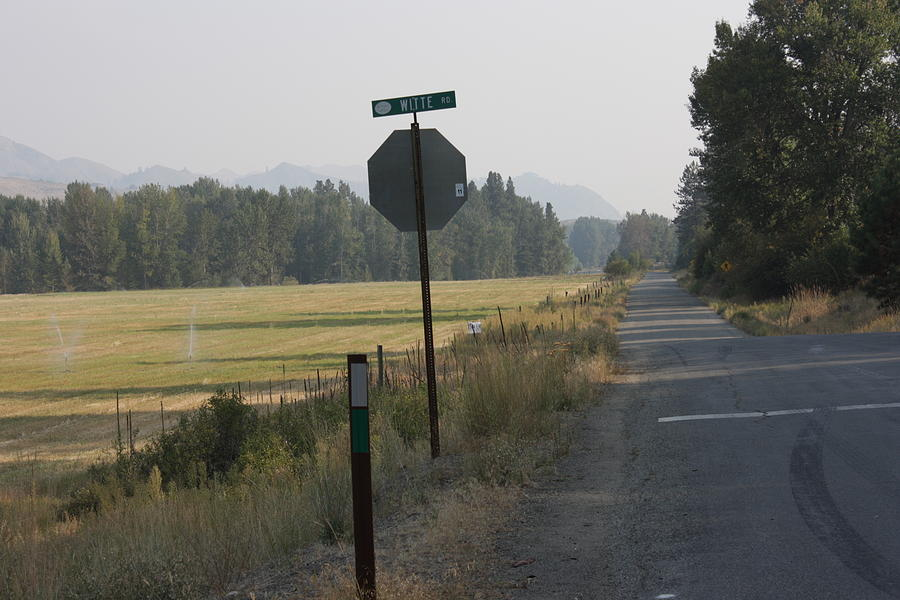 Road Photograph - Stop Here by Jeannine Welfelt