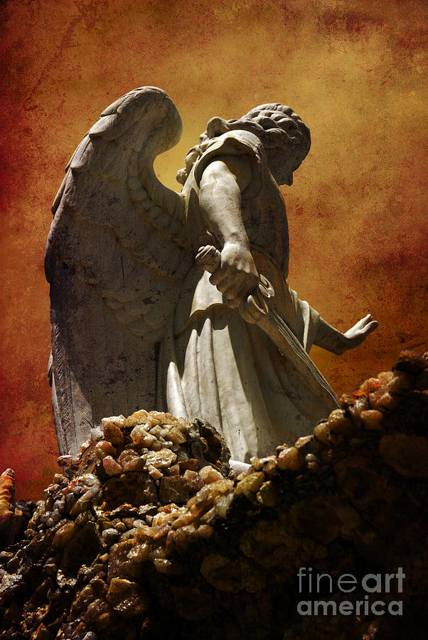 Angel Photograph - Stop In The Name Of God by Susanne Van Hulst