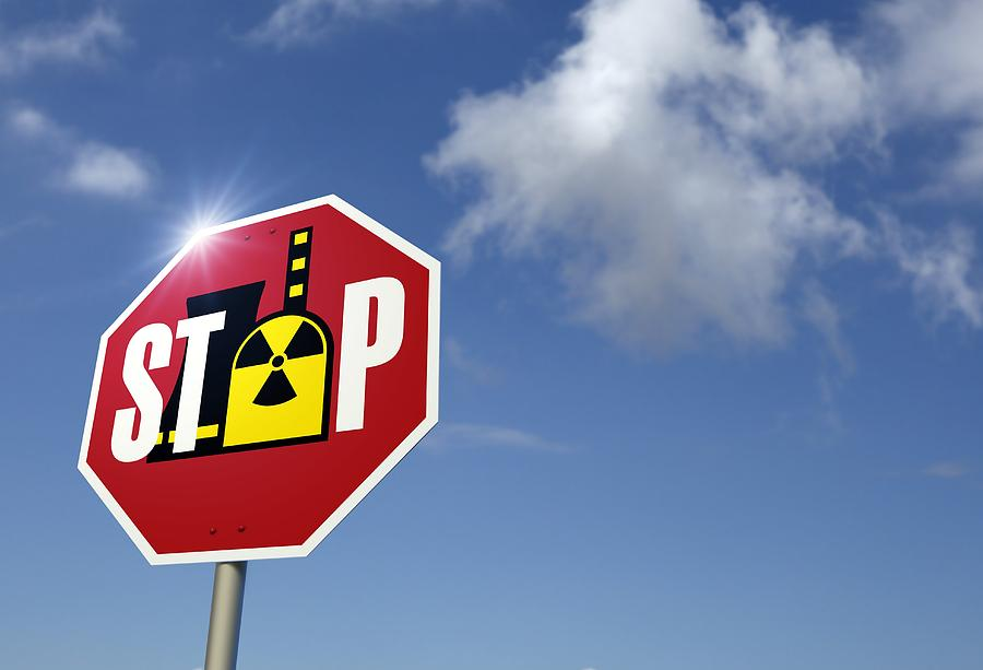 Caution Photograph - Stop Nuclear Power, Conceptual Artwork by Detlev Van Ravenswaay
