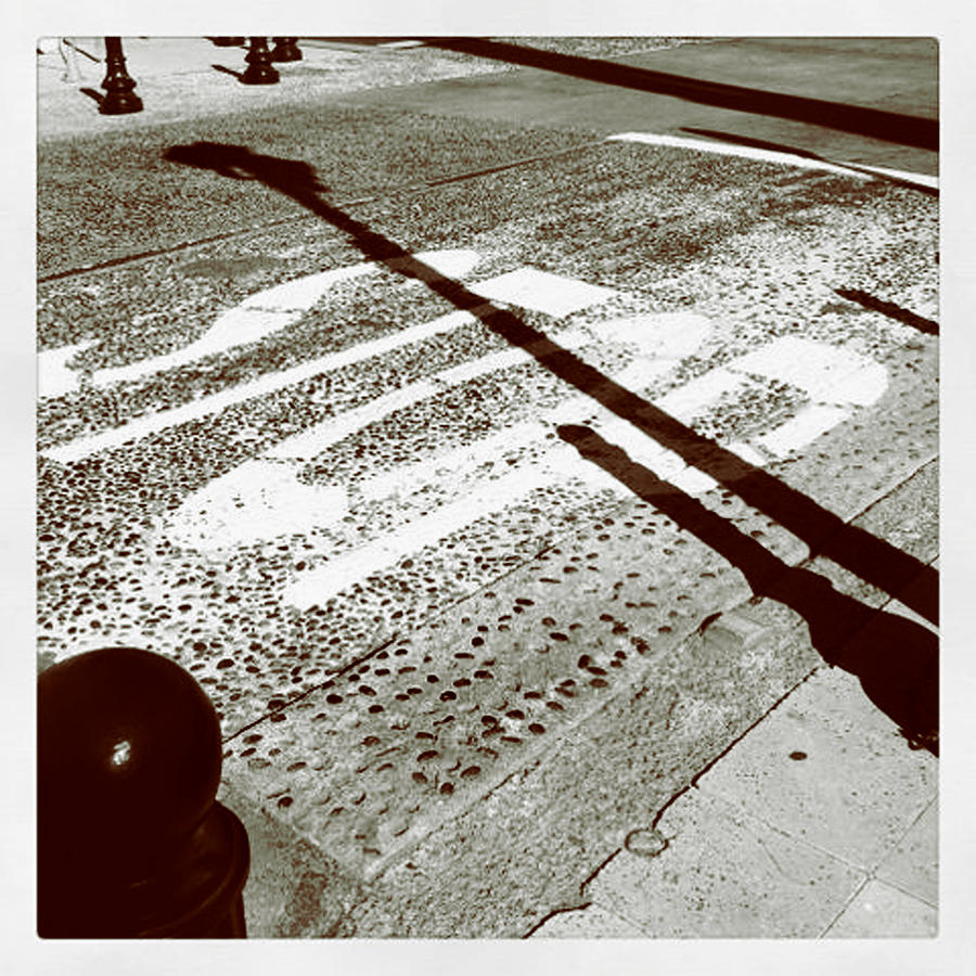 Stop Shadow Photograph by Gabe Arroyo