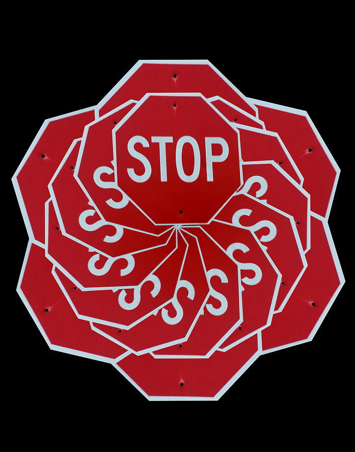 stop sign kalidescope digital art by denise keegan frawley rh pixels com stop sign artwork stop sign art projects