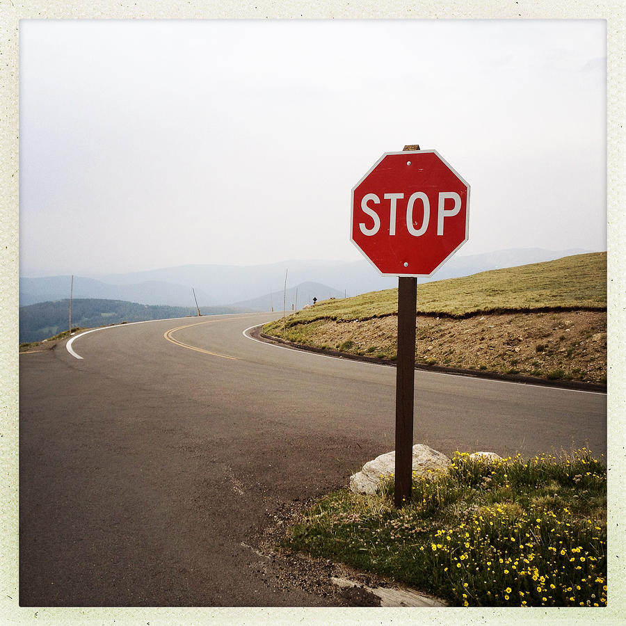 Square Photograph - Stop Sign by ©Natasha Japp Photography