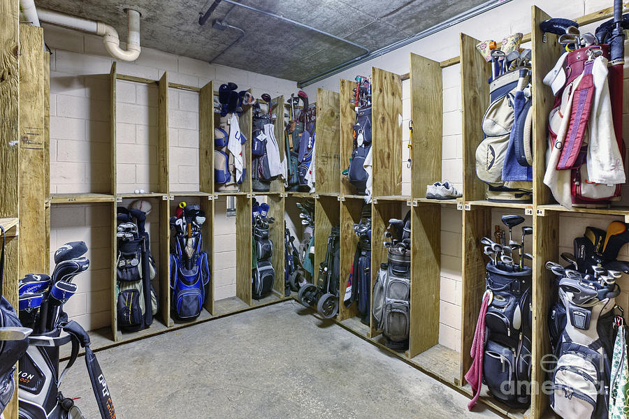 Bags Photograph   Storage Room For Golf Clubs By Skip Nall
