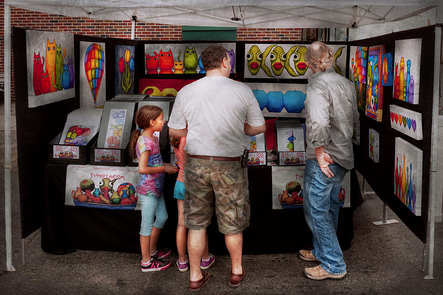 Artist Photograph - Store Front - Artist - Puppy Love  by Mike Savad
