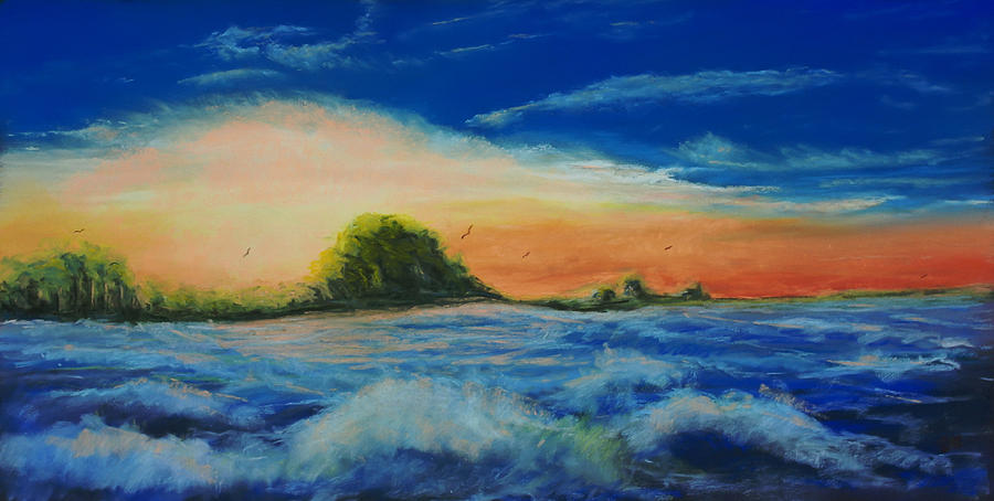 Landscape Pastel - Storm At Low Sun by Peter Jackson