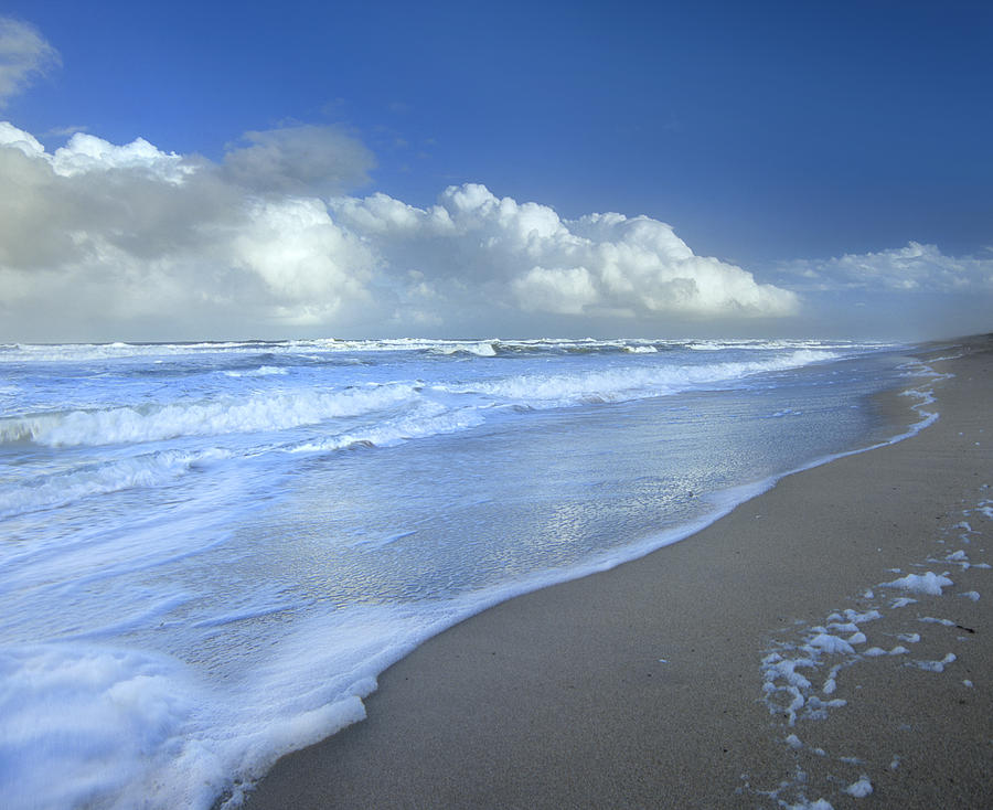 Storm Cloud Over Beach, Canaveral Photograph by Tim Fitzharris
