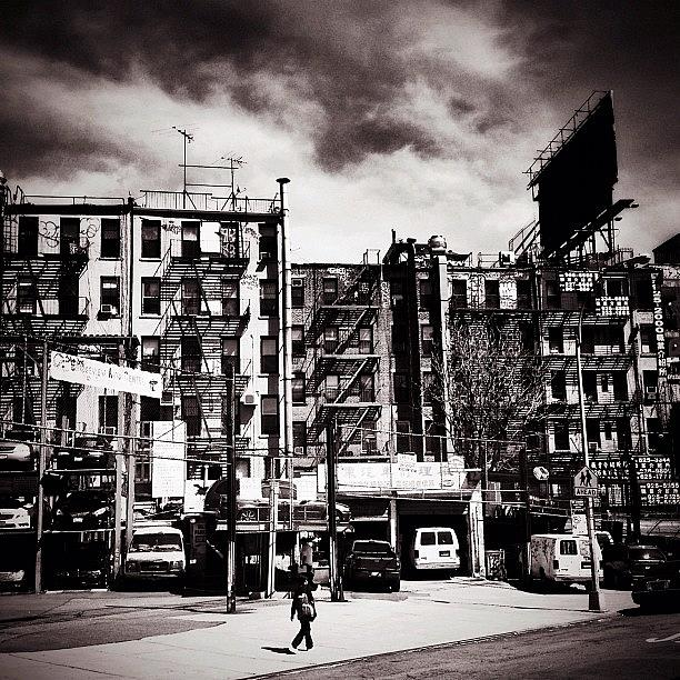 New York City Photograph - Storm Clouds - Chinatown - New York City by Vivienne Gucwa
