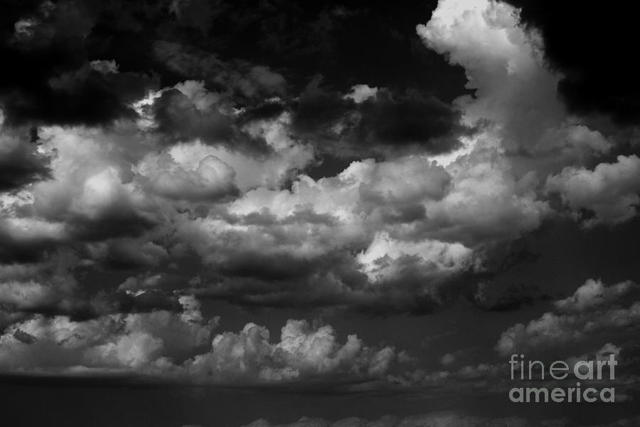 Black And White Photograph - Storm Clouds 1 by Ashley M Conger