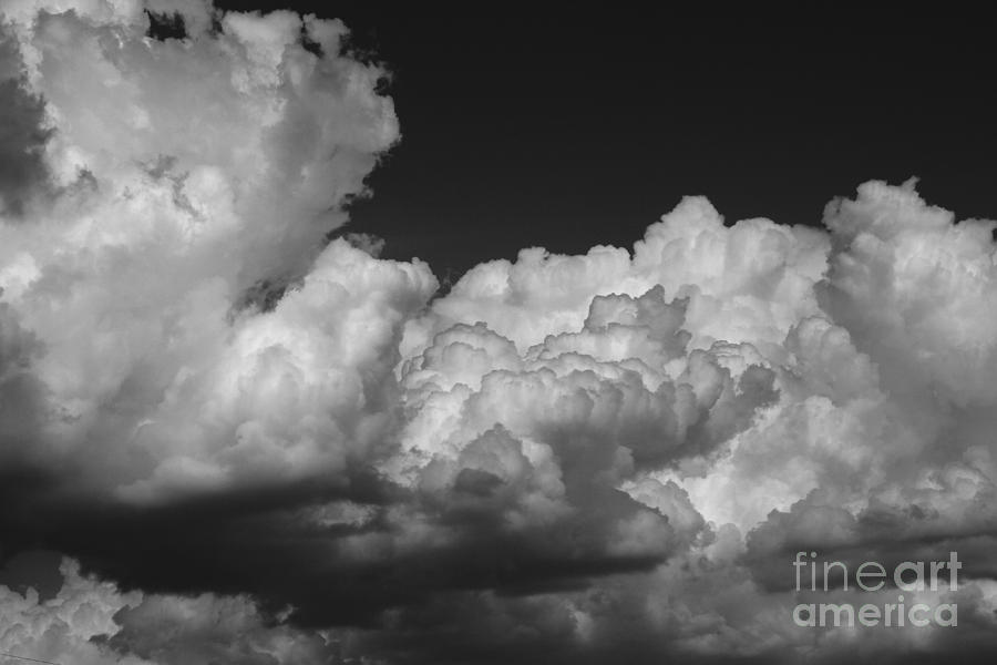 Black And White Photograph - Storm Clouds 2 by Ashley M Conger