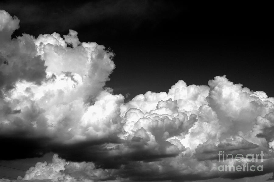 Black And White Photograph - Storm Clouds 3 by Ashley M Conger