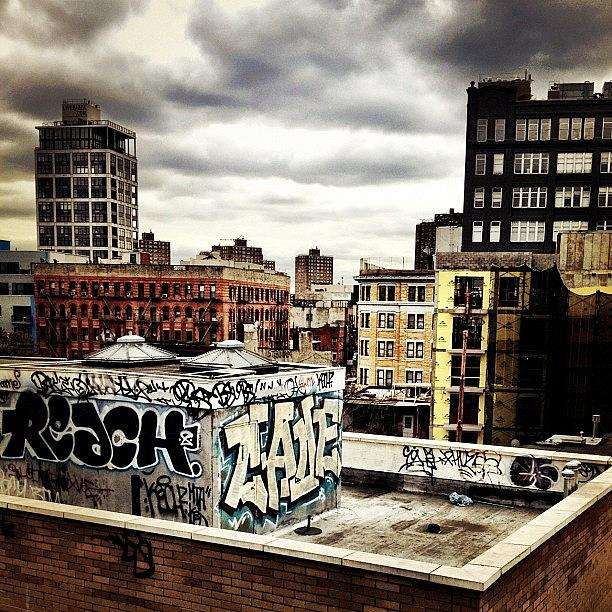 Newyorkcity Photograph - Storm Clouds And Graffiti Looking Out by Vivienne Gucwa