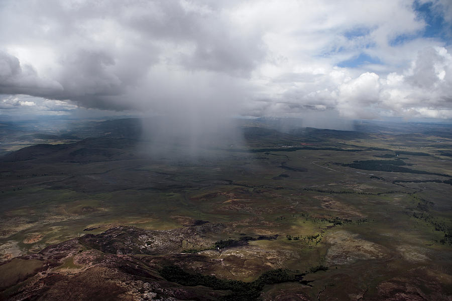 La Gran Sabana Photograph - Storm Clouds Hover Above The Highlands by Bobby Haas