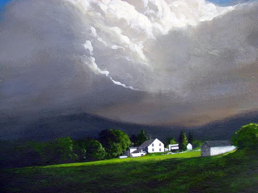 Painting With Acrylic Storm Clouds