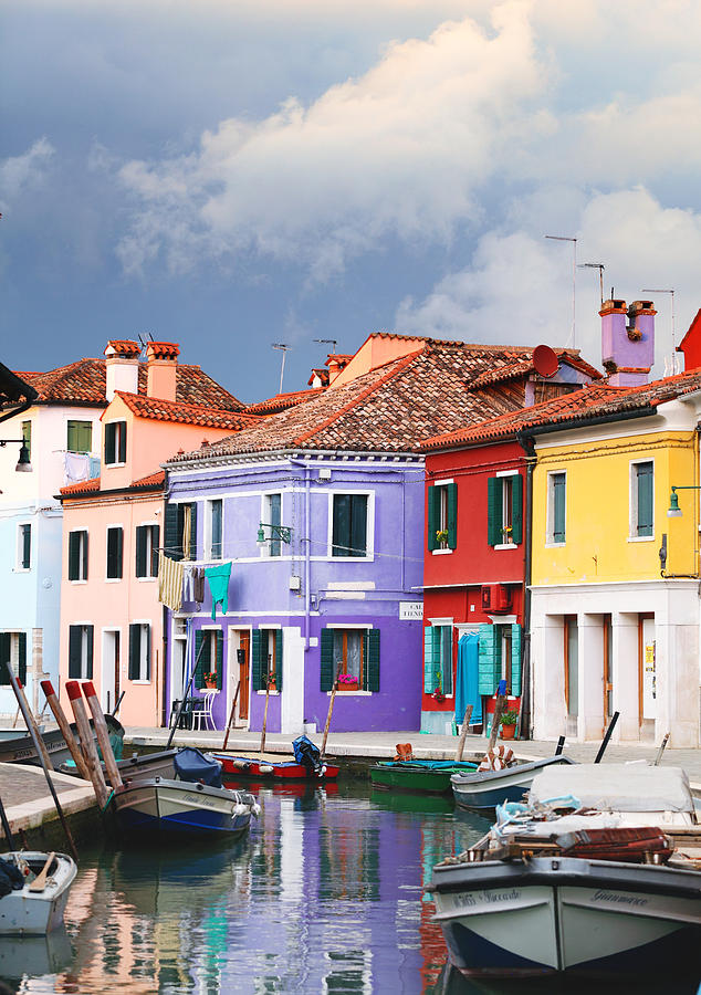 Burano Photograph - Storm Clouds Over Burano by Paul Cowan