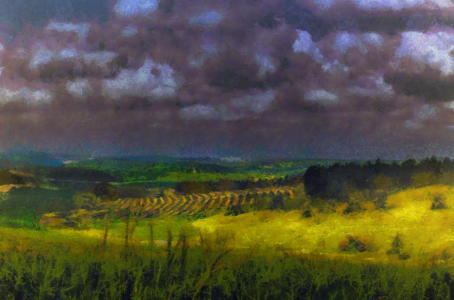 Landscape Photograph - Storm clouds over meadow by Michael Goyberg