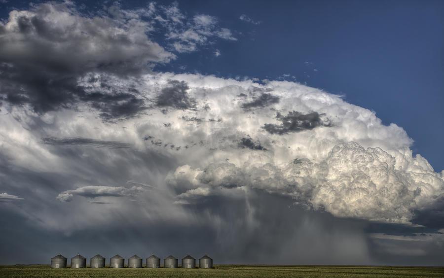 Prairie Photograph - Storm Clouds thunderhead by Mark Duffy