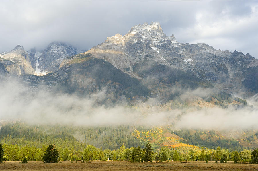 Landscape Photograph - Storm On Grand Teton by Sandra Bronstein