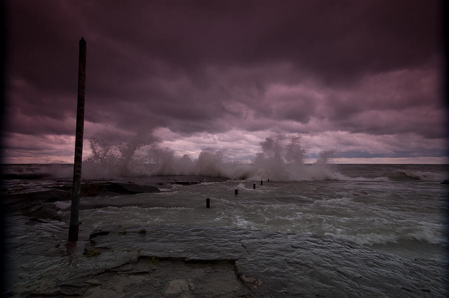 Storm on Lake Ontario  by Philip Clift