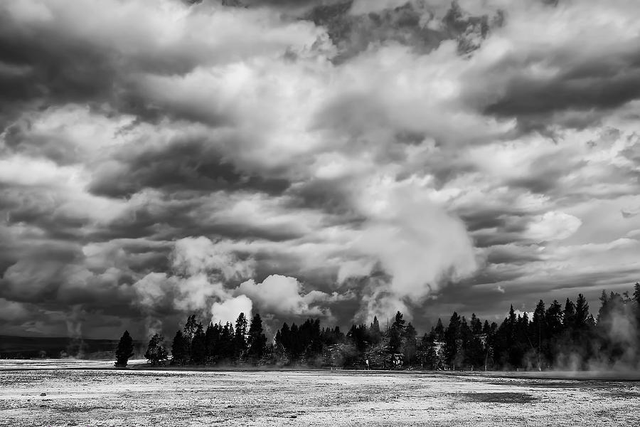 Yellowstone Photograph - Storm Over Firehole Lake Drive by Daniel Hagerman