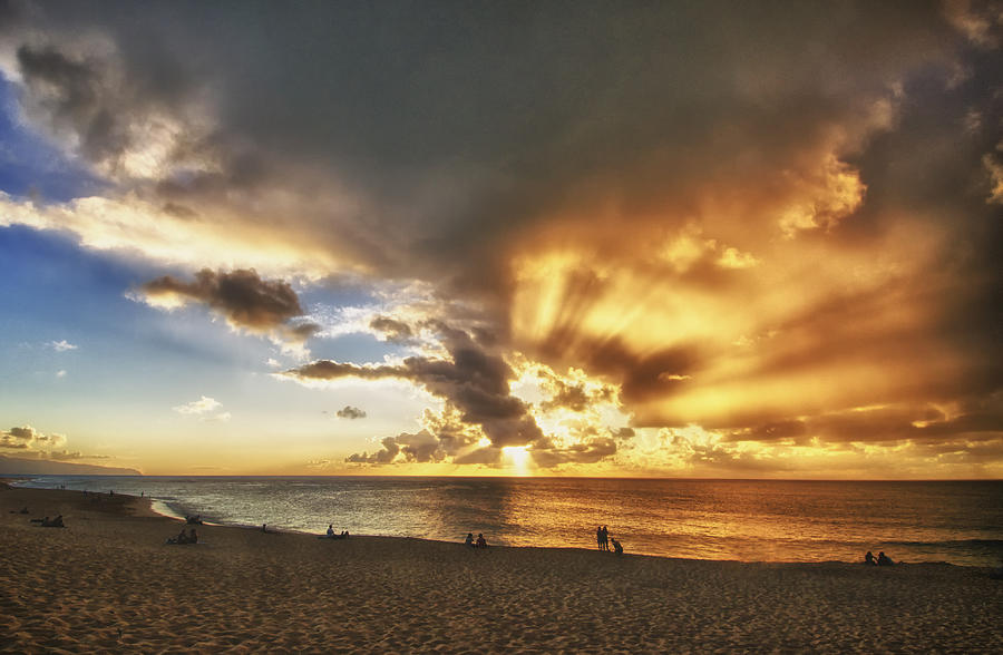 Landscape Photograph - Storm Over Sunset Beach Hawaii by Verity Milligan