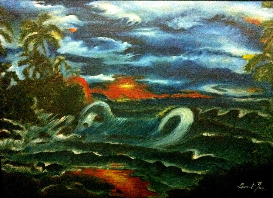 Nature Painting - Storm by Sumit Jain