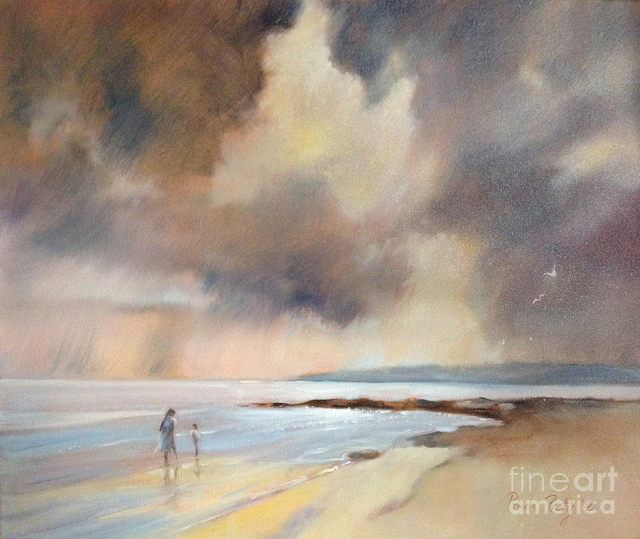 Oil Painting Painting - Storm Watchers by Pamela Pretty