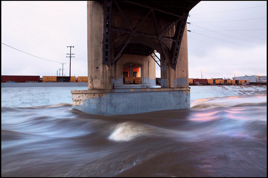 La Photograph - Storm Water Under The Sixth Street Bridge In La by Kevin  Break
