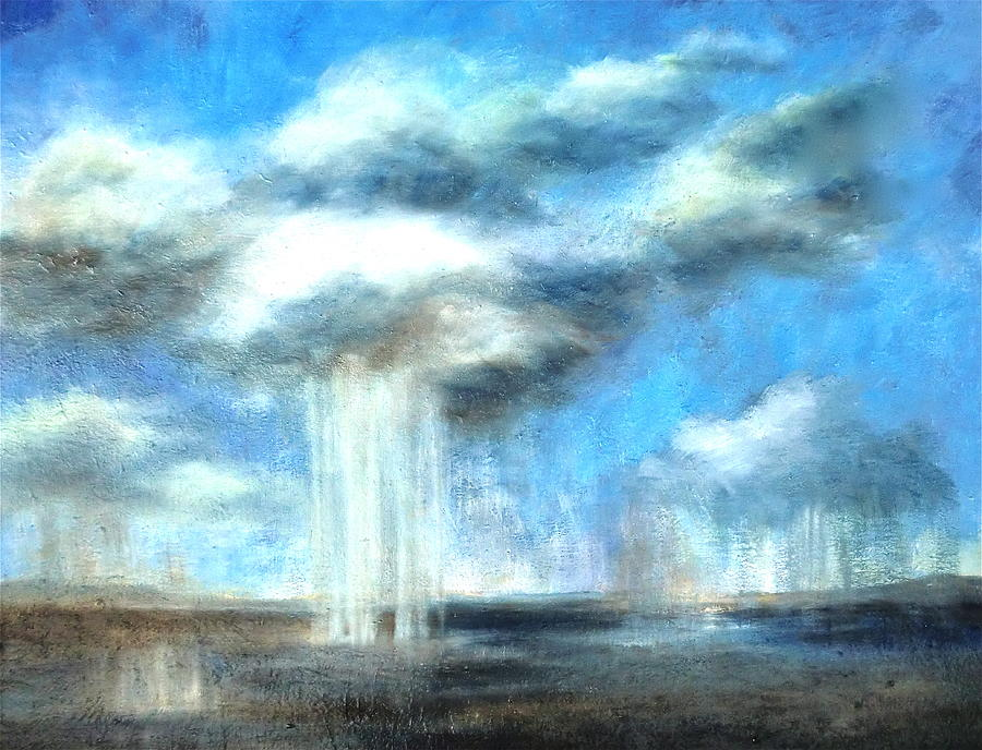 Art Print Painting - Storms A Comin by Lisa Masters