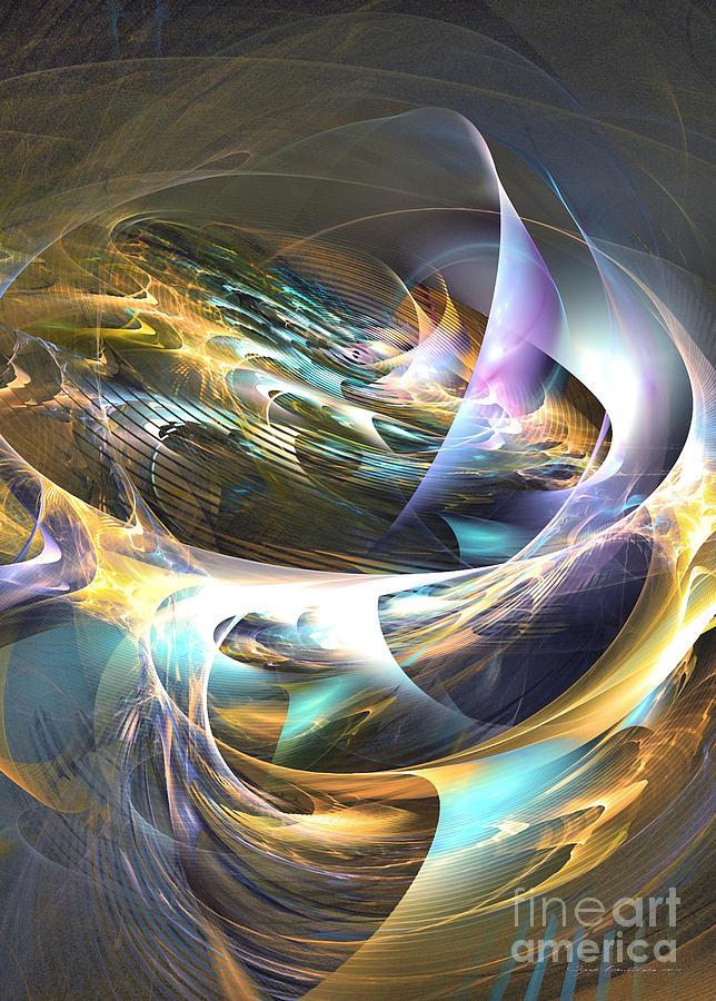 3-d Digital Art - Storms Ear - Fractal Art by Sipo Liimatainen