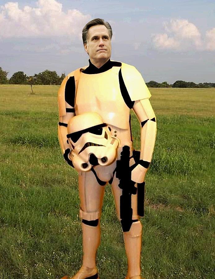 Mitt Romney Painting - Stormtrooper Mitt Romney by Paul Van Scott